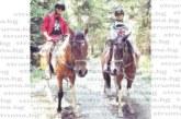 Орлето в ЦСКА Ал. Дюлгеров и приятелката му Михаела Маринова релаксират с езда в Рила