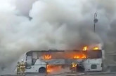 "Огнен ад! Автобус изгоря на АМ ""Люлин"""