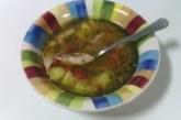 Супа с бяло месо и пресни зеленчуци