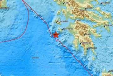 Земетресение 5.9 по Рихтер край Закинтос
