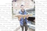 РЕКОРДЕН УЛОВ! Рибар от Белишко извади от водите на Места пъстърва гигант 3,7 кг след едночасова битка