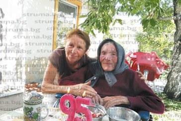 С наздравица с хубава гроздова баба Василка отбеляза 95-годишнина