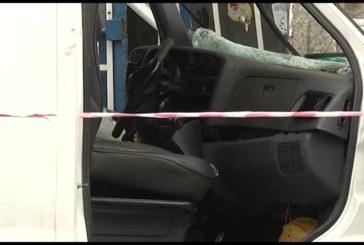 Бус с нафта се разби до полицията в Горна Оряховица
