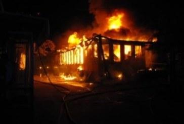 Огнен ужас! Пламна цех в Хаджидимово