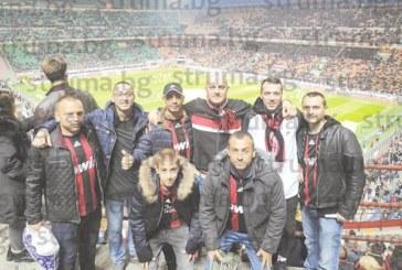 """Петричани живяха 48 часа в ритъма на Милано, гледаха мач от легендарната """"Curva Sud"""", дивяха с червено-черните тифози"""