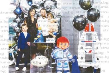 Футболното семейство Дякови с общо парти за рождените дни на децата им