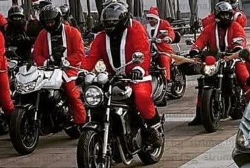 Рев на мотори в Благоевград! Бандата на Дядо Коледа раздаде подаръци на децата