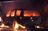 Автомобил в Петричко пламна като факла