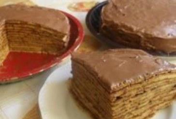 Палачинкова торта с шоколадов крем