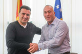 Заев и Харадинай на неофициална среща на летището в Прищина
