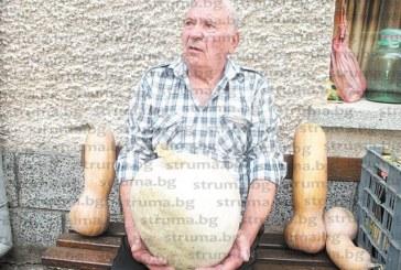 Приятели северняци зарадваха с 20-кг балка инж. Симеон Вахев от Кресна