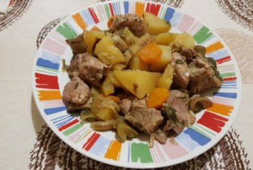 Mесо със зеленчуцив гювеч