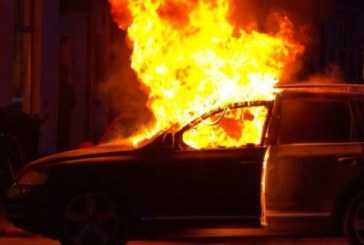 Огнен ужас в Петричко! Огнеборци гасиха пламнала кола