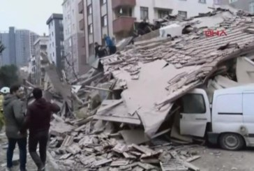 Извънредно! 8-етажна сграда в Истанбул рухна, има жертви