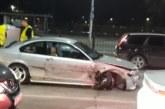Спортен автомобил удари 5 коли и тир