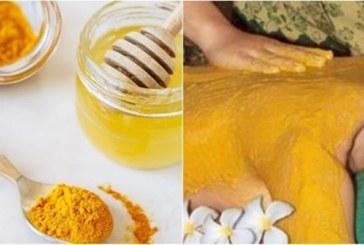 Заличете петната по кожата с куркума, лимон и мед