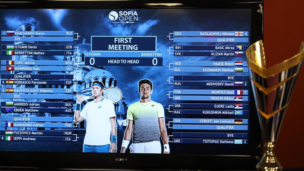 Жребият е хвърлен: Няколко супер двубоя още в първи кръг на Sofia Open 2019