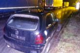 Лек автомобил се заби в ТИР на Е-79 край Благоевград, шофьорът офейка
