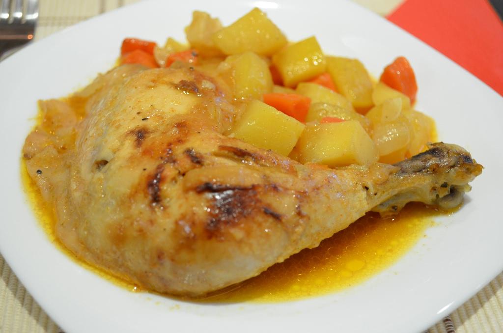Пилешки бутчета с картофи в плик