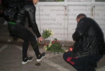 Стотици на бдение в памет на убития Валери Дъбов в Кюстендил
