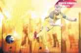 Голаджията от Крупник М. Тошев лъсна на плакат за купата на Азиатската футболна конфедерация