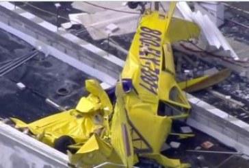 Самолет се вряза в 18-етажна сграда