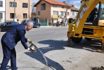 Първа копка на кръгови кръстовища и ремонт на улици в Разлог