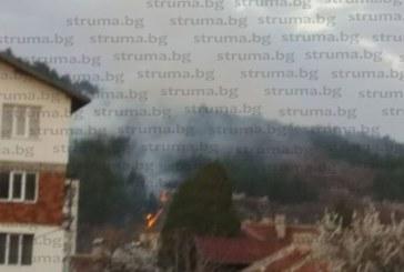"Борова гора гори до АМ ""Струма"" край Дупница"