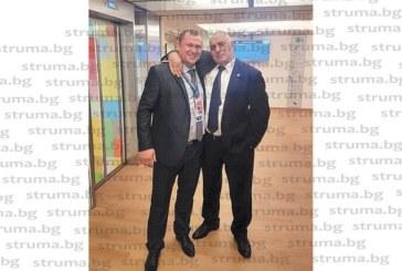 """""""ПИРИН"""" Е НАВСЯКЪДЕ!  Бившият вратар на орлетата Л. Сотиров и премиерът Б. Борисов се """"захапаха"""" на футболна тема в Брюксел"""