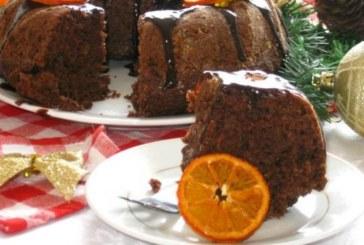 Постен кейк с грис и мандарини