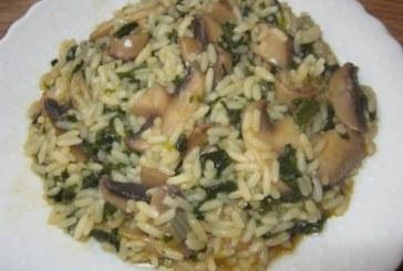 Ориз със спанак и гъби
