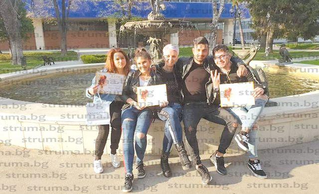 Ученици от ПГТЛП - Благоевград призьори във фестивал на красотата и прическата