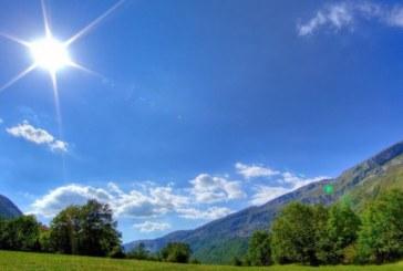 Слънчево с максимални температури между 16° и 21°