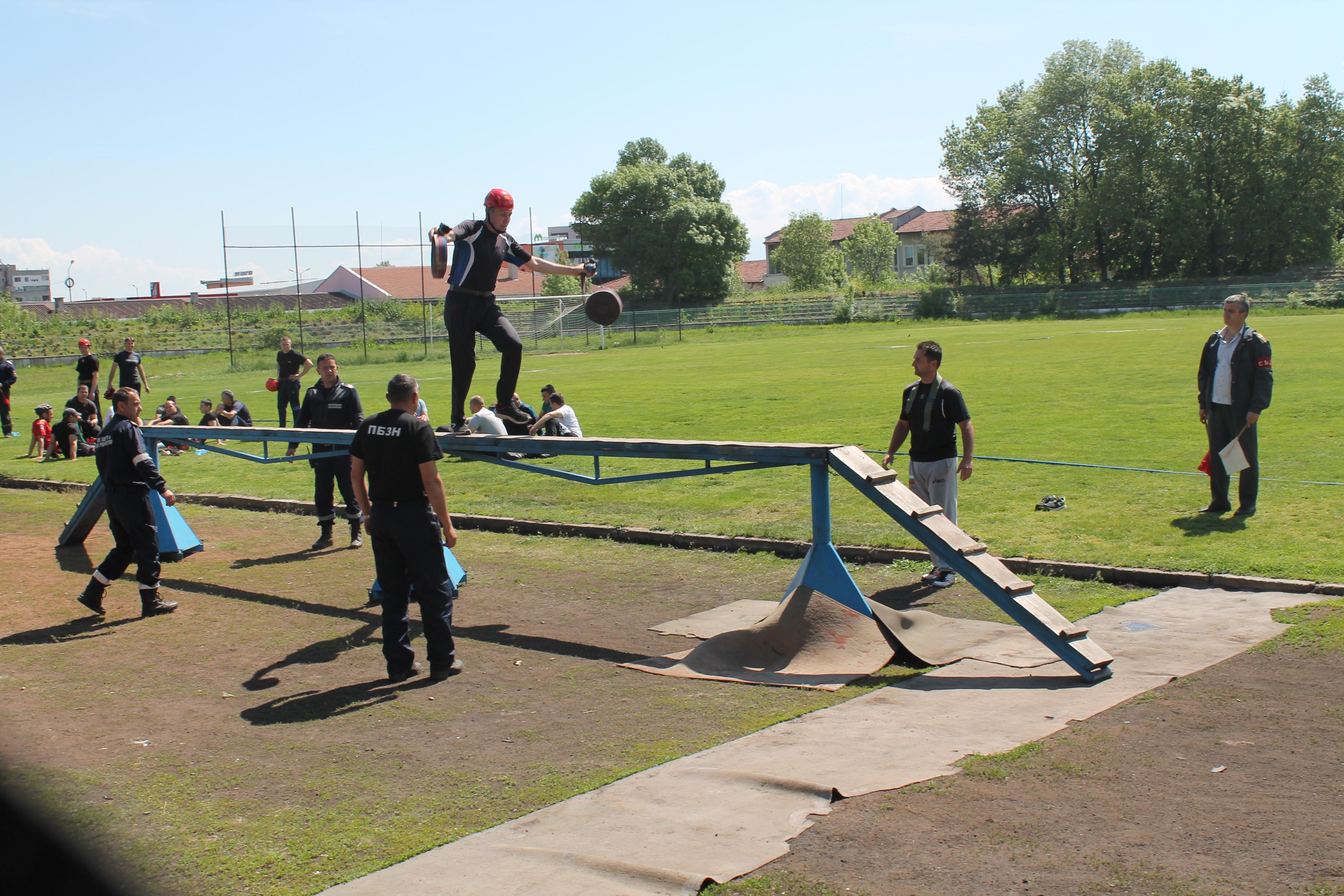Областно състезание по пожароприложен спорт в Кюстендил