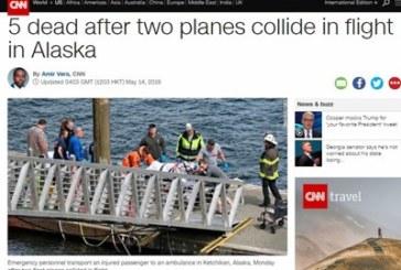 Самолети се сблъскаха, петима загинаха