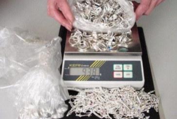Иззеха над 7 кг контрабандни сребърни накити