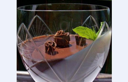 Шоколадово-ментова панакота
