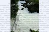 Гъстата бяла пяна, която покри река Струма, била от шампоан