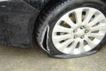 Вандалски изпълнения! Рязаха гуми в центъра на Благоевград