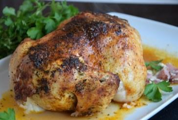 Пълнено пиле с бекон и сирена