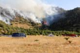 Огнен ужас в Италия! С хеликоптери гасят пожари, предизвикани от изригването на вулкан