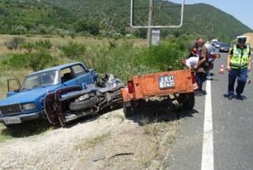 Катастрофа край Симитли, моторист в болница