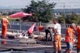 """СКАНДАЛ! Новото трасе на АМ """"Струма"""" край Благоевград се пропука, затвориха пътя от Кулата"""