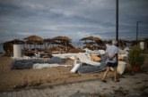 СЛЕД БУРЯТА: Разчистват щетите в района на Халкидики
