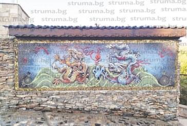 Благоевградската учителка Д. Гошева украси дома си с уникална 3-метрова мозайка с дракони