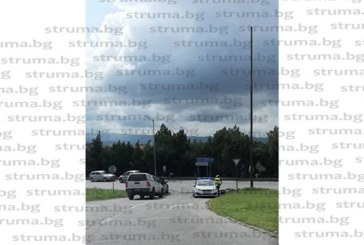 ОТ ПОСЛЕДНИТЕ МИНУТИ! Катастрофа на входа на Благоевград, транспортираха ранен в болница