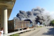 Отнемат лиценза на фирмата, чийто склад горя край Дупница