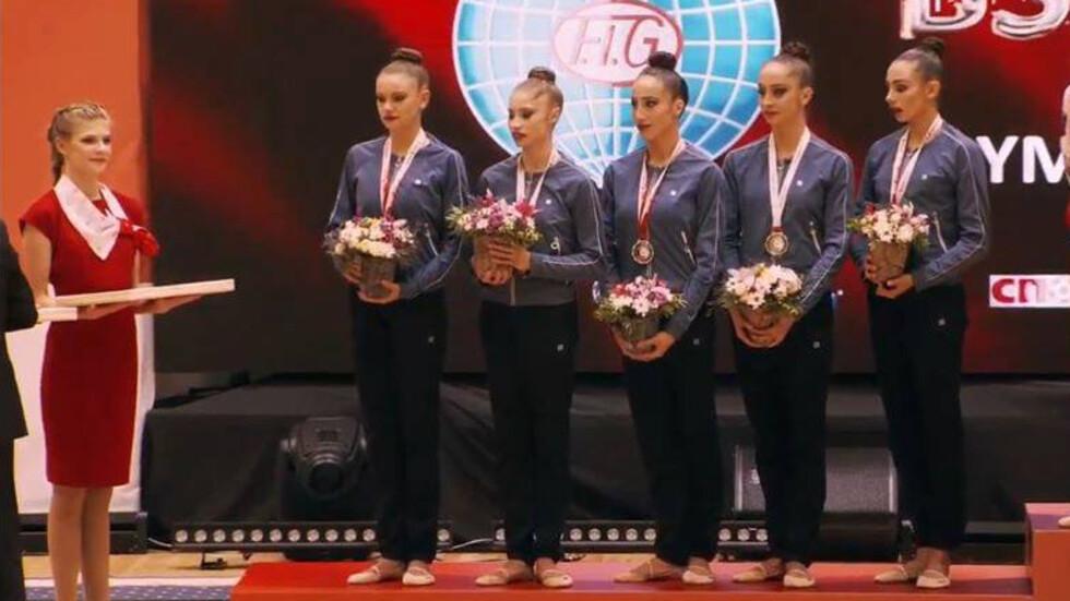 Ансамбъла ни по художествена гимнастика грабна бронза на Световната купа в Минск