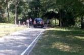 Заблуден шофьор влезе със съборяни в тревните площи на Бачиново, полицията го сгащи