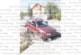 Голф счупи мантинела и се приземи върху гаража на таксиметраджия в Бобов дол